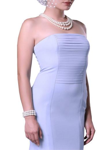 Pierre Cardin Straplez Abiye Elbise Mavi